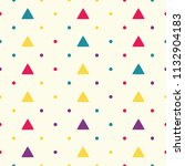 seamless pattern with triangles ... | Shutterstock .eps vector #1132904183
