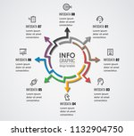 business infographic design... | Shutterstock .eps vector #1132904750