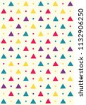 seamless pattern with triangles ... | Shutterstock .eps vector #1132906250