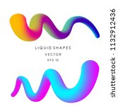 abstract liquid color shapes on ... | Shutterstock .eps vector #1132912436
