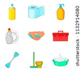 toiletry icons set. cartoon set ... | Shutterstock . vector #1132914080