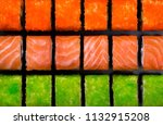 japanese sushi rolls in the... | Shutterstock . vector #1132915208