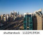 dubai skyscrapers. dubai marina ... | Shutterstock . vector #1132915934