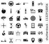 parking place icons set. simple ... | Shutterstock . vector #1132918856
