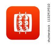 meat shashlik icon digital red... | Shutterstock . vector #1132919510