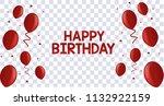 ballon red happy birthday... | Shutterstock .eps vector #1132922159