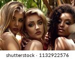 beauty portrait of three... | Shutterstock . vector #1132922576