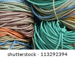 Piles Of Colorful Rope Used To...