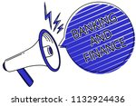 writing note showing banking... | Shutterstock . vector #1132924436