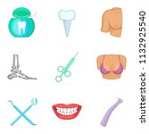 some person icons set. cartoon... | Shutterstock . vector #1132925540