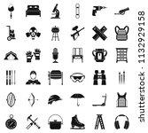 additional equipment icons set. ... | Shutterstock . vector #1132929158