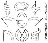 vector set of different flag...   Shutterstock .eps vector #1132932860