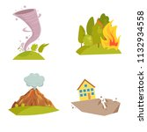 natural cataclysm icons set....   Shutterstock .eps vector #1132934558