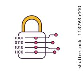 cryptography icon. cartoon... | Shutterstock .eps vector #1132935440
