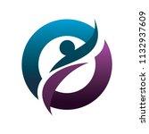 balance people logo | Shutterstock .eps vector #1132937609