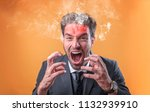 furious and frustrated... | Shutterstock . vector #1132939910