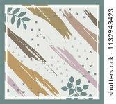 sweet blossom scarf pattern | Shutterstock .eps vector #1132943423