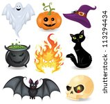 set of halloween icons. | Shutterstock .eps vector #113294434