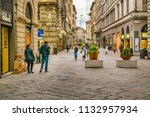 florence  italy  january   2018 ... | Shutterstock . vector #1132957934