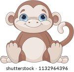 illustration of cute baby... | Shutterstock .eps vector #1132964396