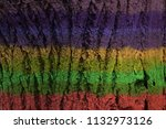 multi different colors paint on ... | Shutterstock . vector #1132973126
