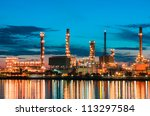 oil refinery at  bangkok... | Shutterstock . vector #113297584