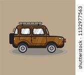 hand drawn suv car illustration | Shutterstock .eps vector #1132977563
