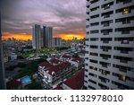 bangkok  12 july 2018  evening... | Shutterstock . vector #1132978010