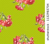 seamless floral pattern with... | Shutterstock .eps vector #1132983704