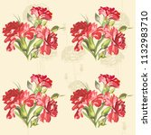 seamless floral pattern with... | Shutterstock .eps vector #1132983710