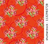 seamless floral pattern with... | Shutterstock .eps vector #1132983728