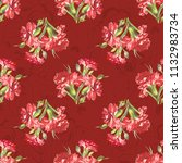 seamless floral pattern with... | Shutterstock .eps vector #1132983734