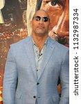 new york   jun 10  actor dwayne ... | Shutterstock . vector #1132987334
