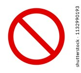 red ban   banned  stop  no or... | Shutterstock .eps vector #1132990193