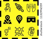 simple 9 icon set of human... | Shutterstock .eps vector #1132996559