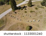 aerial view of an ancient stone ... | Shutterstock . vector #1133001260