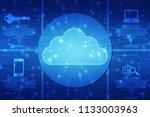2d rendering cloud computing ... | Shutterstock . vector #1133003963