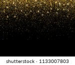 gold glitter particles on dark... | Shutterstock .eps vector #1133007803