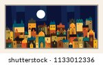 a modern city full of colourful ... | Shutterstock .eps vector #1133012336