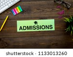 college admission concept. word ... | Shutterstock . vector #1133013260