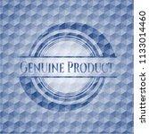 genuine product blue polygonal... | Shutterstock .eps vector #1133014460