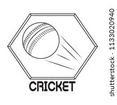 abstract cricket label   Shutterstock .eps vector #1133020940