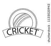 abstract cricket label   Shutterstock .eps vector #1133020943