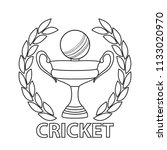 abstract cricket label   Shutterstock .eps vector #1133020970