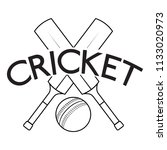 abstract cricket label   Shutterstock .eps vector #1133020973
