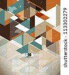 eps10 vector vintage triangle... | Shutterstock .eps vector #113302279