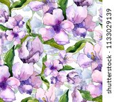 purple and blue alstroemeria... | Shutterstock . vector #1133029139