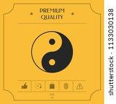 yin yang symbol of harmony and... | Shutterstock .eps vector #1133030138