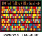 100 red  yellow  blue colorful... | Shutterstock .eps vector #1133031689