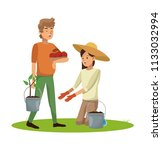 people and gardening | Shutterstock .eps vector #1133032994